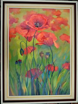 Picturi cu flori Macii mei MF