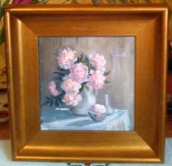 Picturi cu flori Bujori in vas