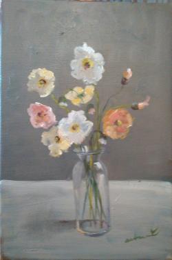 Picturi cu flori Flori de sticlă