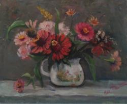 Picturi cu flori Flori din gradina vecinei