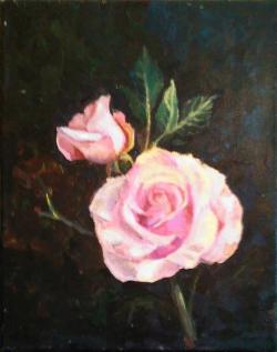 Picturi cu flori Imbratisare