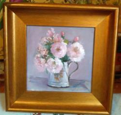 Picturi cu flori Trandafiri in cana veche