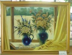 Picturi cu flori La fereastra