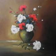 Picturi cu flori Trandafiri si garoafe 2