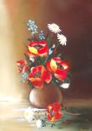 Picturi cu flori Vaza mare cu maci