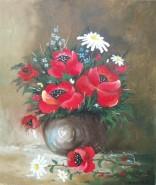 Picturi cu flori Vaza mica cu maci