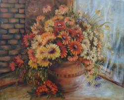 Picturi cu flori Asteptandu-te o vreme.