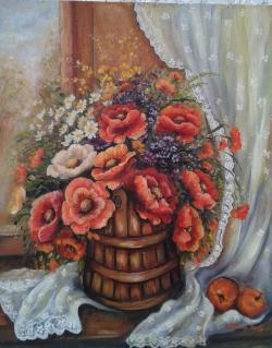 Picturi cu flori Nostalgie si alte vremuri...
