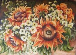 Picturi cu flori Zambete si veselie