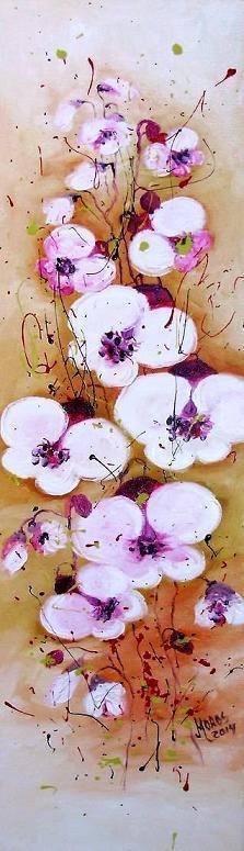 Picturi cu flori Orhideea alba