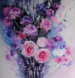 Picturi cu flori Roses de dentelle