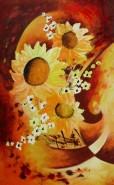 Picturi cu flori Soare in floare