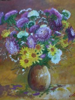 Picturi cu flori Cea mai frumoasa cununa