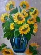 Picturi cu flori Floarea soarelui2
