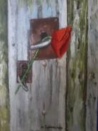 Picturi cu flori Iubire la usa ta...