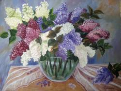 Picturi cu flori Liliac Inflorit,
