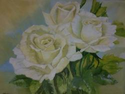 Picturi cu flori Romantismul trandafirilor