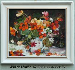 Picturi cu flori Condurasi in vas alb