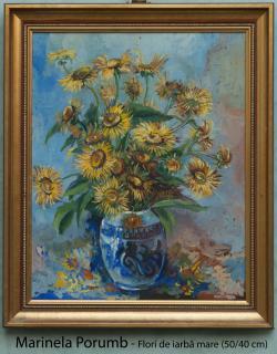 Picturi cu flori Flori de iarba mare