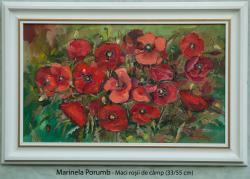 Picturi cu flori Maci rosii de cimp