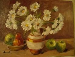 Picturi cu flori Margarete