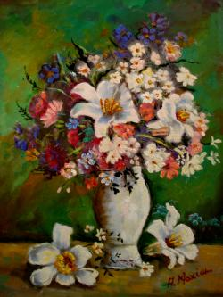 Picturi cu flori Crini2