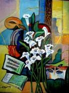 Picturi cu flori Dansul calelor1