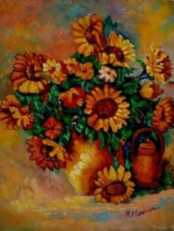 Picturi cu flori Floarea soarelui01