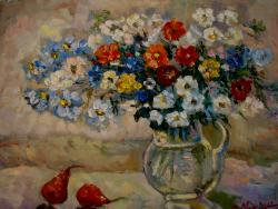 Picturi cu flori Flori de camp multicolore3