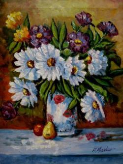 Picturi cu flori Flori de gradina11