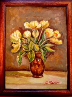 Picturi cu flori Lalele galbene2