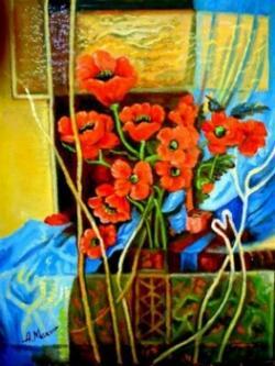 Picturi cu flori Maci01