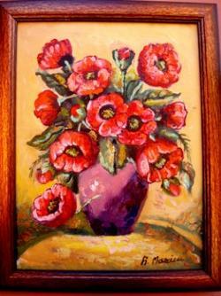 Picturi cu flori maci06