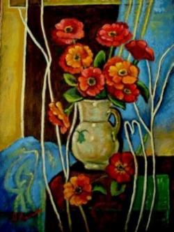 Picturi cu flori Nemtoaice in vaza01