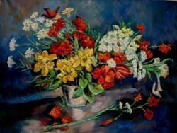 Picturi cu flori Parfum de narcise1