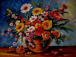 Picturi cu flori Tablou flori de camp multicolore01