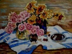 Picturi cu flori Tablou flori de gradina