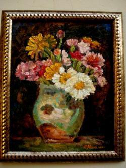 Picturi cu flori Tablou Flori de gradina11