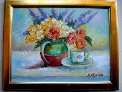 Picturi cu flori Tablou flori de gradina 2