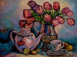 Picturi cu flori Tablou lalele in vaza