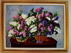 Picturi cu flori Tablou liliac inflorit03