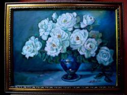 Picturi cu flori Tablou Trandafiri Albi