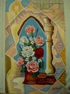 Picturi cu flori Trandafiri infloriti