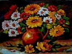 Picturi cu flori Vaza cu flori 01