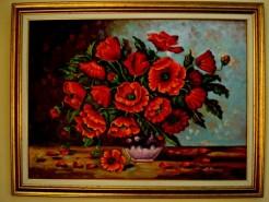 Picturi cu flori Vaza cu maci1