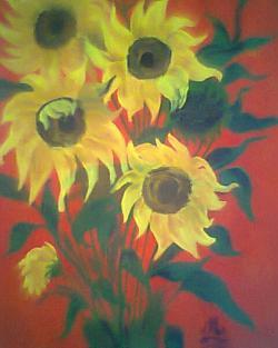 Picturi cu flori Floarea Soarelui de Mihaela