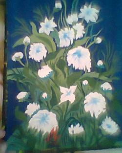 Picturi cu flori Stelute de primavara