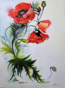 Picturi cu flori Red dreams -2