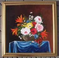 Picturi cu flori Buchet de flori in vaza