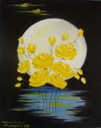 Picturi cu flori Reproducere -trandafiri de luna